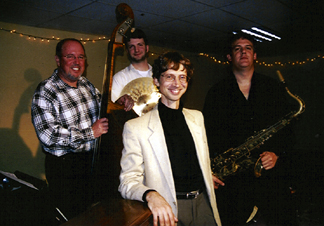 The Core-tet (clockwise from left) is Bob Bowman, Tim Cambron, Rob Scheps and Roger Wilder [Photo by Rich Hoover]