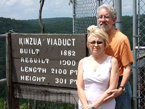 Tom and Mary Jane at the Kinzua Bridge [Photo by Greg Page]