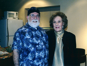 Butch Berman and Marian McPartland meet backstage.