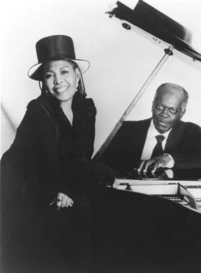 "Abbey Lincoln and Hank Jones from the cover of their 1992 release, ""When There Is Love"" [File Photo]"