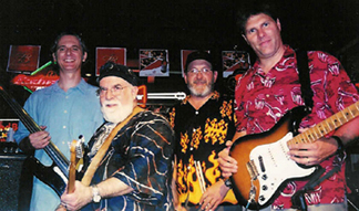 Butch (second from left) with The Cronin Brothers