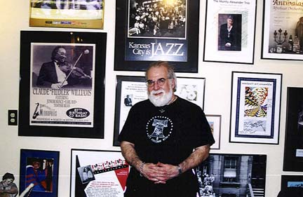 Butch Berman in the BMF museum in the basement of his house