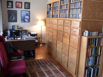 Much of the BMF music collection was filed in oak cabinets at The Burkholder Project 2008-2013.