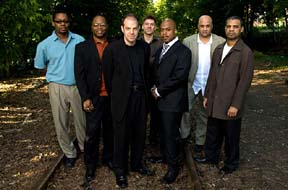 The Blue Note 7 are (from left) Ravi Coltrane, Lewis Nash, Bill Charlap, Peter Bernstein, Nicholas Payton, Peter Washington and Steve Wilson. [Courtesy Photo]