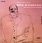 """Ben Webster with Strings,"" cover by David Stone Martin"