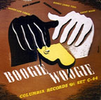 """Boogie Woogie,"" on 78 rpm set, cover by Burt Goldblatt"