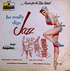 """He Really Digs Jazz,"" from the ""Music for the Boy Friend"" series on Decca, cover by George Petty"