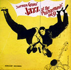 """Jazz at the Philharmonic, Vol. 9,"" cover by David Stone Martin"