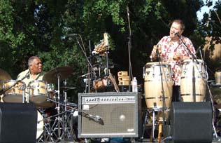 Billy Hart, drums; and Airto, percussion and vocals [Photo by Tom Ineck]