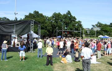 It was a beautiful day in the park for a tribute to Jobim at the Healdsburg Jazz Festival. [Photo by Tom Ineck]