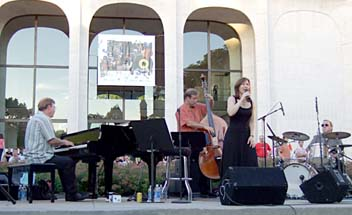 The Kendra Shank Quartet (from left) is Frank Kimbrough, Dean Johnson, Kendra Shank and Tony Moreno. [Photo by Tom Ineck]