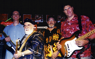 The Cronin Brothers Band (from left) are Craig Kingery, Butch Berman, Don Holmquist and Bill Lohrberg [Photo by Rich Hoover]