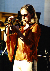 Ingrid Jensen on flugelhorn [Photo by Rich Hoover]