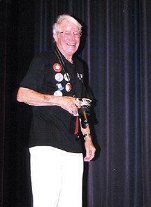 Jim Monroe in his last year as artistic director of the Topeka Jazz Festival. [Photo by Tom Ineck]