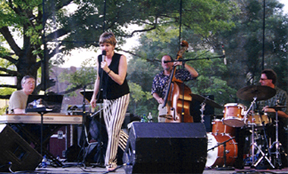 Singer Karrin Allyson is accompanied by (from left) Paul Smith, Bob Bowman and Todd Strait. [Photo by Tom Ineck]