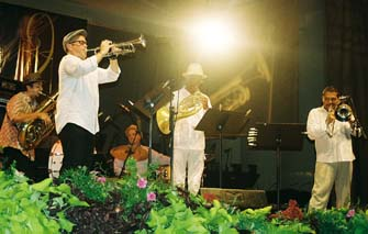 Trumpeter Dave Douglas and Brass Ecstasy [Photo by Tom Ineck]