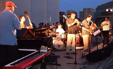The Darryl White Group at Jazz in June [Photo by Tom Ineck]
